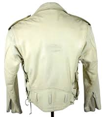 white leather motorcycle jacket lee trevor white d pocket leather motorcycle jacket vintage