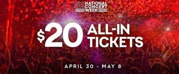 nation launches national concert week with 20 all in ticket offer