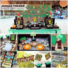 jungle theme birthday party jungle themed birthday party time2partay