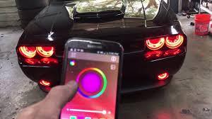 neon lights for trucks dodge challenger halo lights underbody neon installation youtube