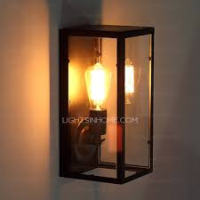 Industrial Wall Sconce Lighting Nice Rectangular Outdoor Wall Lights Primitive Rectangular Glass