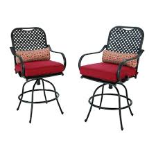 Patio Chairs Bar Height Hampton Bay Woodbury Patio Dining Chair With Textured Sand Cushion
