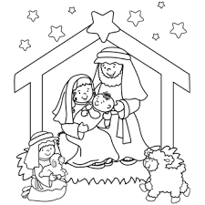 nativity coloring christmas coloring pages ss