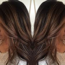 foil highlights for brown hair ashy blonde highlights to add dimension for this dark haired girl