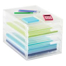 Desk Organizer Drawers Paper Organizer 4 Drawer Desktop Paper Organizer The Container