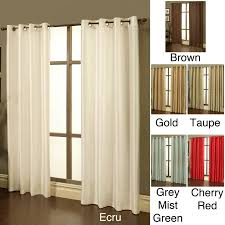 the curtain set includes two 84 inch long and 50 inch wide elegant faux