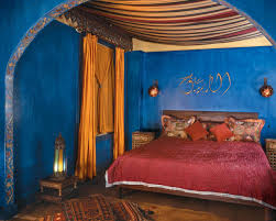 bedroom archaic arabian bedroom decor decoration using red