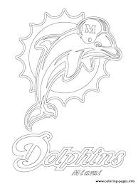 miami dolphins logo football sport coloring pages printable