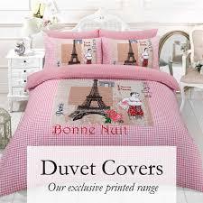 duvet covers fitted sheet duck feather quilt pillow linen uk