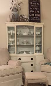Kitchen China Cabinet Hutch China Cabinet Redo Ben Moore Chalk Paint Color White Dove And