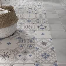 carrelage cuisine sol leroy merlin carrelage sol et mur gris et bleu effet ciment gatsby l 20 x l 20