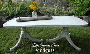 6 caster refinished coffee table u2013 little yellow shed vintiques