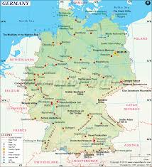 Europe Map With Rivers by Germany Map Map Of Germany And Surrounding Countries