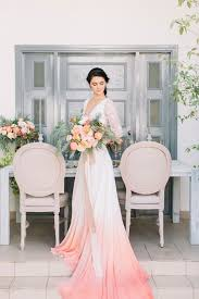 dip dye wedding dress dip dye wedding ideas in ombré and coral hey wedding