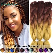 Light Brown Auburn Hair 24inch Crochet Braids 100g Pack Twist Braid Hair Ombre Jumbo