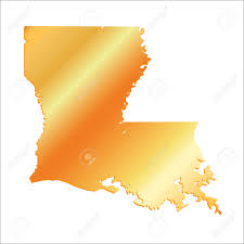Blank Map Usa by Louisiana State Usa Vector Map Isolated Stock Vector 309561773