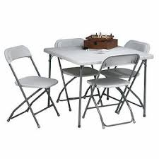 5 Piece Resin Folding Table And Chair Set