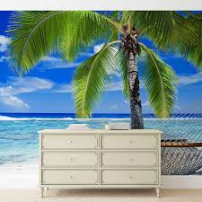 beach sea sand palms hammock wall paper mural buy at europosters price from