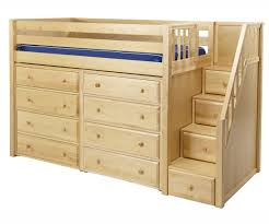 White Bedroom Chest Of Drawers By Loft Maxtrix Mid Height Staircase Loft Bed W Dressers Bedroom