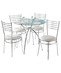 Buy Eydon Clear Glass Dining Table And  Chairs At Argoscouk - Argos kitchen tables