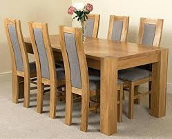 solid oak dining table and 6 chairs solid oak dining table oak dining sets for 6 lovely chunky solid oak