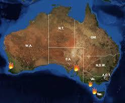 australia satellite map major bushfires in australia in 2015 2016 summer before and after