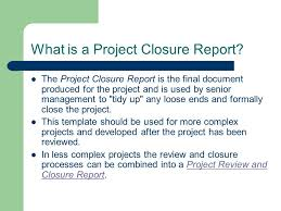 project closure report template ppt project closure report basker george project closure when does a