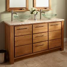 bathroom light brown wooden bathroom vanities with double glass