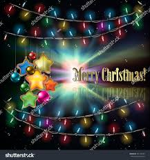 abstract black background christmas lights decorations stock