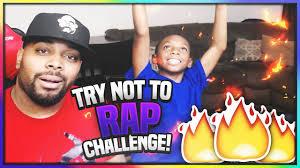 try not to rap challenge w my son loser has to clean the living