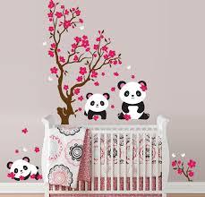 Cherry Blossom Wall Decal For Nursery Panda Cherry Blossom Tree Wall Decal In An Instant
