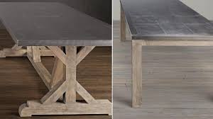 restoration hardware recalls metal top dining tables over lead