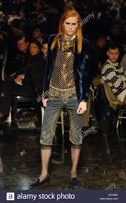 male models with long straight hair jean paul gaultier ready to wear menswear paris a w red head male