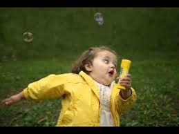 Bubble Girl Meme - raincoat girl running with bubbles youtube