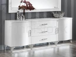 Buffet bahut ANTONIA 2 portes et 3 tiroirs blanc laqué baroque