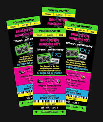 80s party invitations template free cimvitation