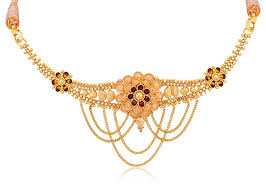 necklace choker design images Buy senco gold 22k yellow gold choker necklace online at low jpg