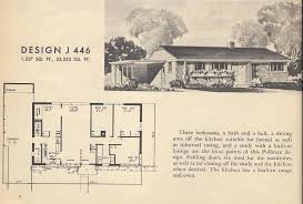 gorgeous plans mid century homes in vintage house plans mid