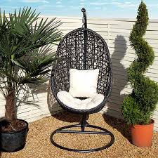 black eclipse hanging egg chair outdoor furniture from ceiling