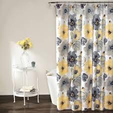 Curious George Curtains Lush Decor Lillian Fabric Shower Curtain U2022 Shower Curtain Ideas