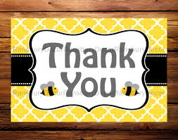 bee thank you card bee theme mom to bee thank you card