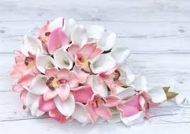 pink orchids pink orchids and calla lilies cascading bouquet