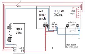 8 input rtd transducer multiplexer pt100mux8 elzet80