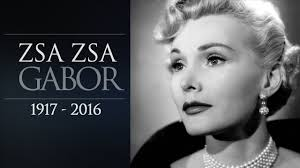 zsa zsa gabor has passed away