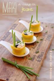cuisiner la courgette jaune recette de maki de courgette jaune la recette facile
