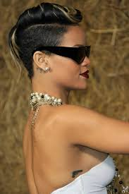 sexy hot back views of pixie hair cuts rihanna s sexy short hairstyle at the chanel ready to wear fashion