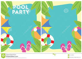 pool party summer party invitation stock illustration image