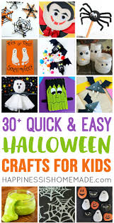quick u0026 easy halloween crafts for kids happiness is homemade