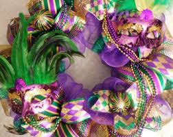 mardi gras wreaths mardi gras wreath etsy