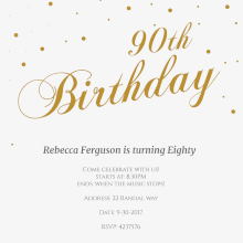 free printable 90th birthday invitation templates greetings island
